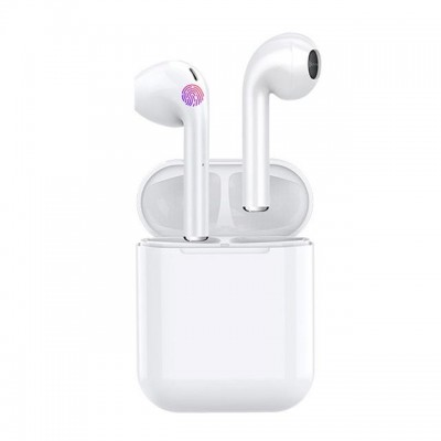 Casti Bluetooth TWS i 11, touch control, V5.0, alb