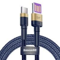 Cablu de date Type-C Baseus Cafule HW Quick Charging 40W  Gold/Blue