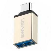 Adaptor USB To Type-C USAMS OTG 3.1A - US-SJ028 - Gold