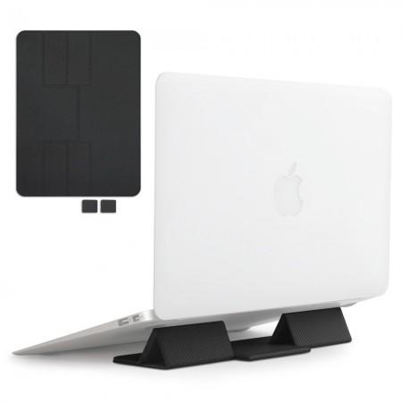 Suport Ringke, pliabil, portabil, cu functie mousepad, pentru Notebook, laptop, negru