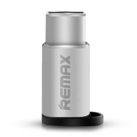 Adaptor Remax, micro USB mama-Tip C tata, gri