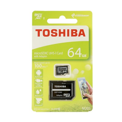 Card memorie Micro SD TOCHIBA 64GB cu adaptor  UHS I CLASS 10 100MB/s