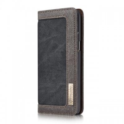 Husa Luxury Denim, Flip, pentru iPhone Xs