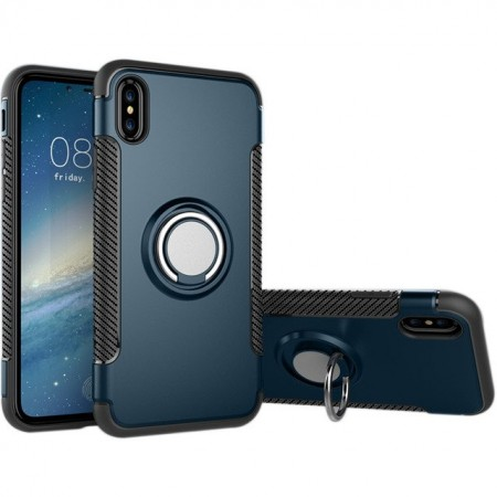 Carcasa SHOCKPROOF Kickstand Magnet iPhone 8 Plus (navy).