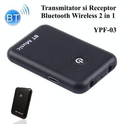 Bluetooth Audio transmiter & receiver wireless, negru