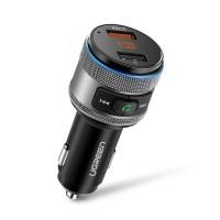 Incarcator UGREEN USB x 2, cu incarcare rapida 3.0, transmitere FM si Bluetooth
