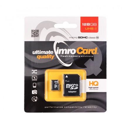Card memorie Micro SD IMRO-128Gb, cu Adaptor, UHS-I, Clasa 10