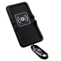 Incarcator pentru masina cu pad din SILICON, QI WIRELESS pentru  iPHONE  X, 8, SAMSUNG