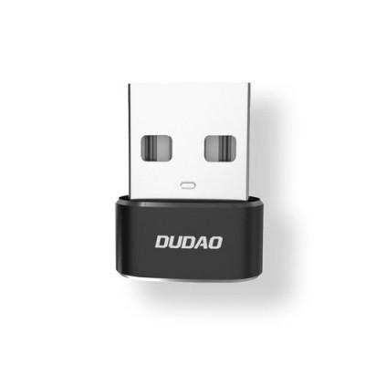 Adaptor Dudao, L16AC USB/USB-C, Adaptor conector, Negru
