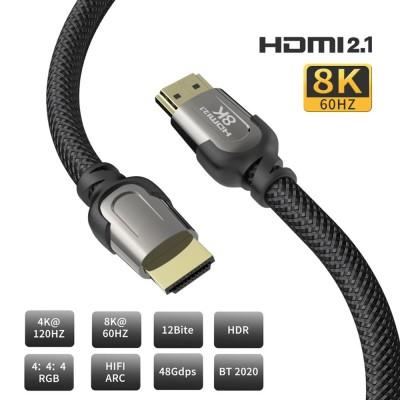Cablu 8K 4 K HDMI 2.1, 3M, negru