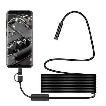 3 in 1 Endoscop cu port USB  impermeabil cu mini camera 8 mm, 5m