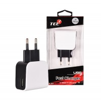 TEL1 Travel Charger - USB Quick Charge 3.0 - 2,5 Amperes Incarcator calatorie 3XUSB