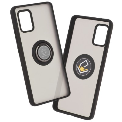 Techsuit - husa cu magnet incorporat - Samsung Galaxy A51, negru/transparent