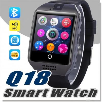 Smart Watch Q18 cu Bluetooth, suport TF SIM, camera Q18, conexiune  NFC