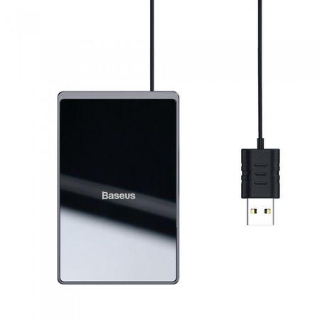 Incarcator wireless, Baseus, 15 w, Quick Charger, waterproof, ultra-thin, negru